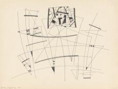 """Jean Leppien. """"sous un poids écrasant"""". 1950"""