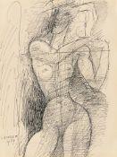 Marcel Gromaire. Stehender Frauenakt. 1959