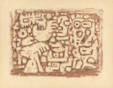 """Willi Baumeister. """"Gespräch der Riesen. Mauer"""". 1947/48"""