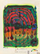 "Friedensreich Hundertwasser. ""Sad not so sad is rainshine from Rainday on a rainy day - …. 1968/1970"
