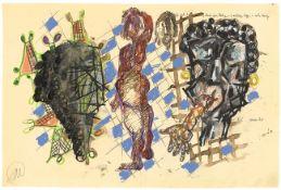 Markus Lüpertz. Jago, Desdemona Otello. 1996