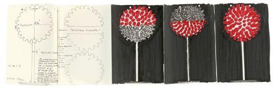 """Otto Piene. Entwürfe für die Lichtskulptur: """"Electric Flower"""". 1967"""