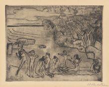 """Hermann Max Pechstein. """"Am Ufer"""". 1920"""