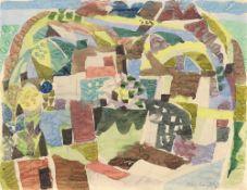 "Eduard Bargheer. ""Häuser in vulkanischer Landschaft"". 1952"