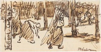 """Max Liebermann. """"Winterwald"""" (Holländisches Leben). 1898"""