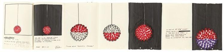 """Otto Piene. Entwurf für die Lichtskulptur: """"Red Star"""". 1967"""