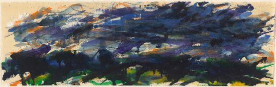 """Max Uhlig. """"Schwere Wolken über flacher Landschaft"""". 1987"""