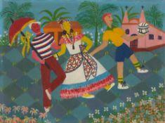 Elisa Martins da Silveira. Três dançarino. 1958