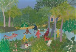 Elisa Martins da Silveira. Banho de rio. 1974