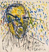 Peter Herrmann. Porträt Mario Calábria (18.XI.92, ca. 24 Uhr). 1992