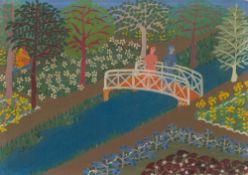 Elisa Martins da Silveira. Paisagem com ponte. 1958