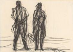 "Max Uhlig. ""Zwei Figuren (Straßenszene)"". 1986"