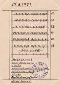 Hanne Darboven. Datumsberechnung. 1977 / 1981