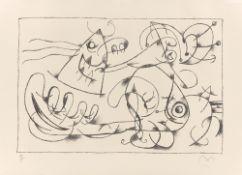 """Joan Miró. Aus: """"Ubu Roi"""". 1966"""