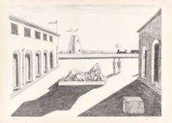 """Giorgio de Chirico. """"Piazza d'Italia"""". 1969"""