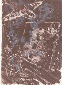 """Jörg Immendorff. """"Versuch, Adler zu werden"""" / """"Paint with Smoke"""". 1992 / 1993"""