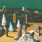 """Ulrich Knispel. """"Landschaft mit Softeistürmen"""". 1975"""