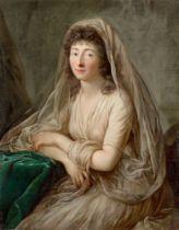Anton Graff. Porträt der Herzogin Dorothea von Kurland. Um 1785