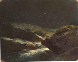 """Dresden, um 1850. """"Im Plauenschen Grund bey Nacht"""". (Nach) 1847"""