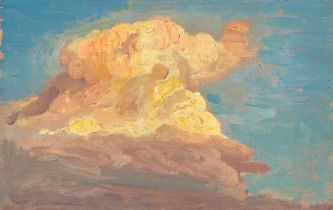 Osmar Schindler. Wolkenstudie.