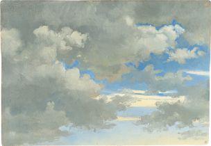 Deutsch, 1846. Wolkenstudie.