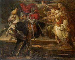 Franz Johann Heinrich Nadorp. Macbeth und Banquo treffen auf die Hexen. Um 1830