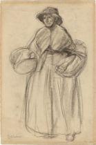 Max Liebermann. Marktfrau. Vor 1891
