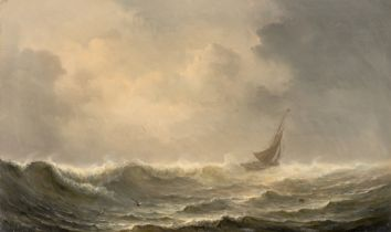 Théodore Gudin. Segelschiff auf stürmischer See.