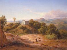 Louis Gurlitt. Italienische Landschaft. 1846
