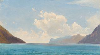 "Johann Gottfried Steffan. ""Am Gardasee"". 1845"
