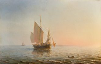Théodore Gudin. Fischerboot bei Sonnenaufgang.