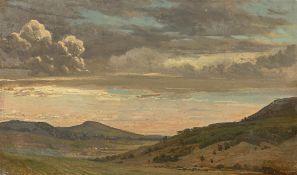 Johann Heinrich Schilbach. Wolken über der Campagna.