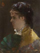 Alfred Stevens. Junge Pariserin mit Fächer. 1878