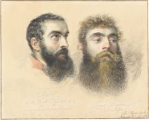 Karl Joseph Aloys Agricola. Doppelporträt (Johann Jacob Possler und Conrad Hensler). 1813