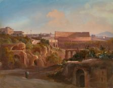 Johann Hermann Camiencke. Forum Romanum mit Kolosseum. 1840er Jahre