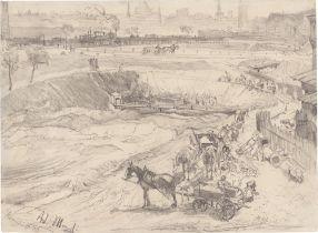 Adolph Menzel. Tagebau in Königshütte. 1872