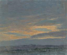 Max Pietschmann. Abendhimmel. 1900
