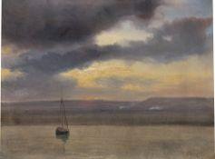 Théodore Gudin. Seestück mit Fischerboot.