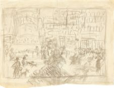 Pierre Bonnard. Straßenszene, Place de Clichy (Paris). Um 1905