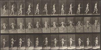 Eadweard  Muybridge (Edward James Muggeridge). Running and jumping with skipping rope. Plate …. 1885