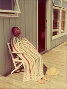 David Hockney. Henry Avoiding the Sun, August. 1975