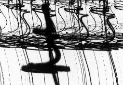 "Otto Steinert. ""Luminogramm II"" (Lampen der Place de la Concorde, Paris). 1952"