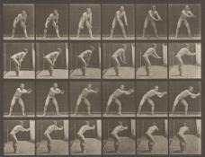 "Eadweard  Muybridge (Edward James Muggeridge). Baseball, catching. Plate 280, aus der Serie ""…. 1885"