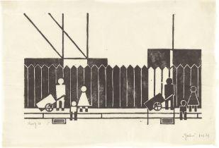 """Gerd Arntz. """"Zaun"""". 1924"""