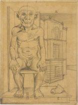 """Gottfried Brockmann. """"Akademiemodell (Anton, der ehemalige ,Rhinroller' 80 Jahre)"""". 1926"""