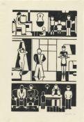 """Gerd Arntz. """"Häuser der Zeit"""". 1927"""