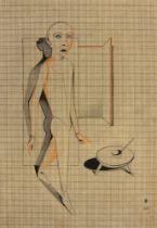 """Gottfried Brockmann. """"Schreitender (Schlemihl)"""". 1926"""