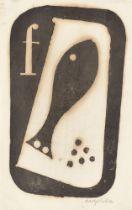 "Angelika Hoerle. ""Fisch"" / ""Lampe"" / ""Vogel"" / ""Haus"". 1920"