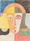 """Heinrich Hoerle. """"Frauenkopf (Trude Alex/Hoerle?)"""". Um 1935"""