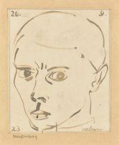 Gottfried Brockmann. Selbstporträt. 1923